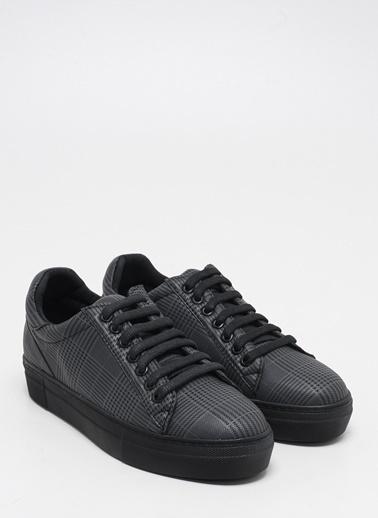 F By Fabrika Kadın Siyah Sneakers BREMEN EKOSE Siyah
